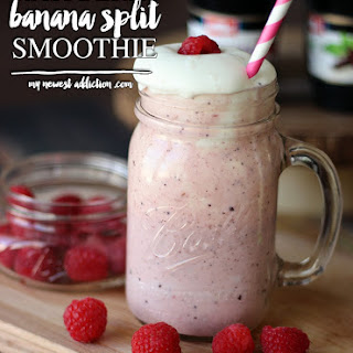Raspberry Banana Split Smoothie