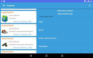 Screenshot of Stock Controller - inventories