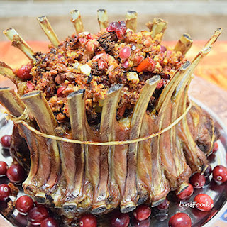 Crown Roast of Lamb with Spicy Sausage and Cranberry Stuffing