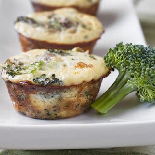 Broccoli Mushroom Frittatas.
