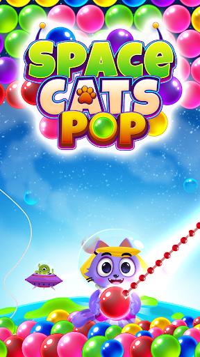 Space Cats Pop - Kitty Bubble Pop Games apktram screenshots 2