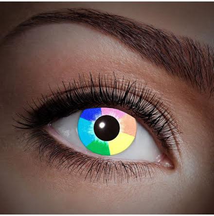 Färglinser, UV Regnbåge 1 år