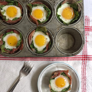 Pretty Prosciutto and Spinach Egg Cups