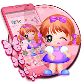 Cute Baby Girl Theme