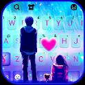 Romantic Sky Couple Keyboard Background icon