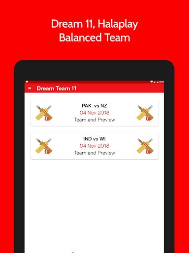 DT11 - Dream11, MyTeam11 Pro-Tips 2.0.7 screenshots 7