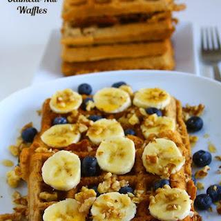 Vegan Oatmeal Nut Waffles