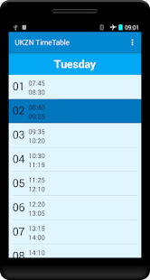 UKZN Timetable- screenshot thumbnail