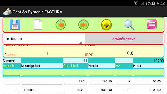 facturas gestión VA_4.2 - náhled