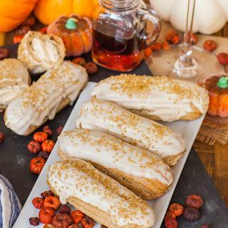 Pumpkin Maple Eclairs.