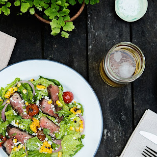 Chipotle-Coffee Steak Salad With Grilled Corn and Tomatoes.