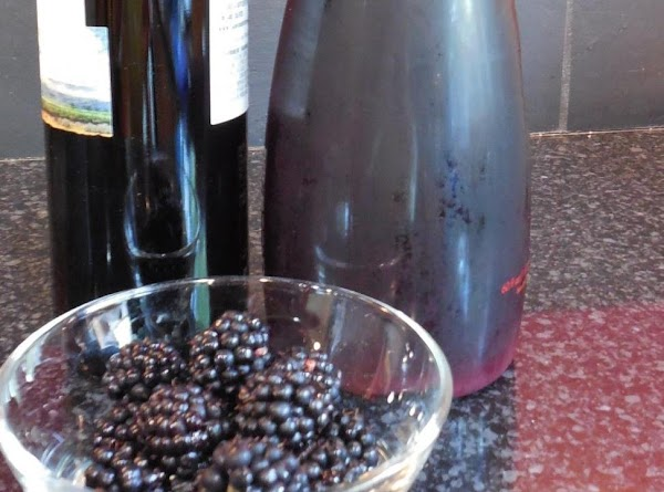 Pour pomegranate juice and merlot into a 2 cup measuring glass. Add Splenda and...