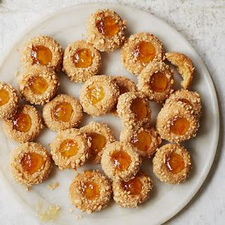 Marcona Almond and Orange Thumbprint Cookies.