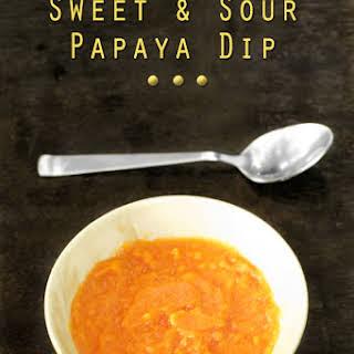 Sweet and Sour Papaya Dip Sauce.