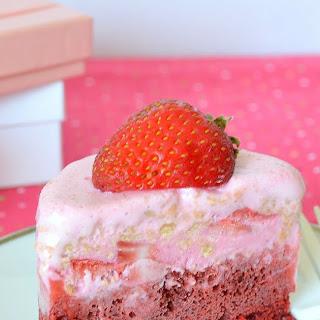 Strawberry Chunk Ice Cream Cake.