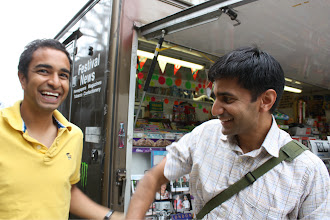 Photo: zeeshan is trying to get feraz to hold hands.