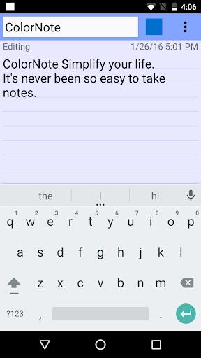 ColorNote Notepad Notes 4.0.7 screenshots 3