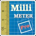 Millimeter Pro - screen ruler, protractor, level icon