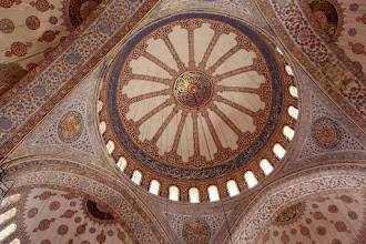 Photo: Day 110 - The Ceiling of the Blue Mosque