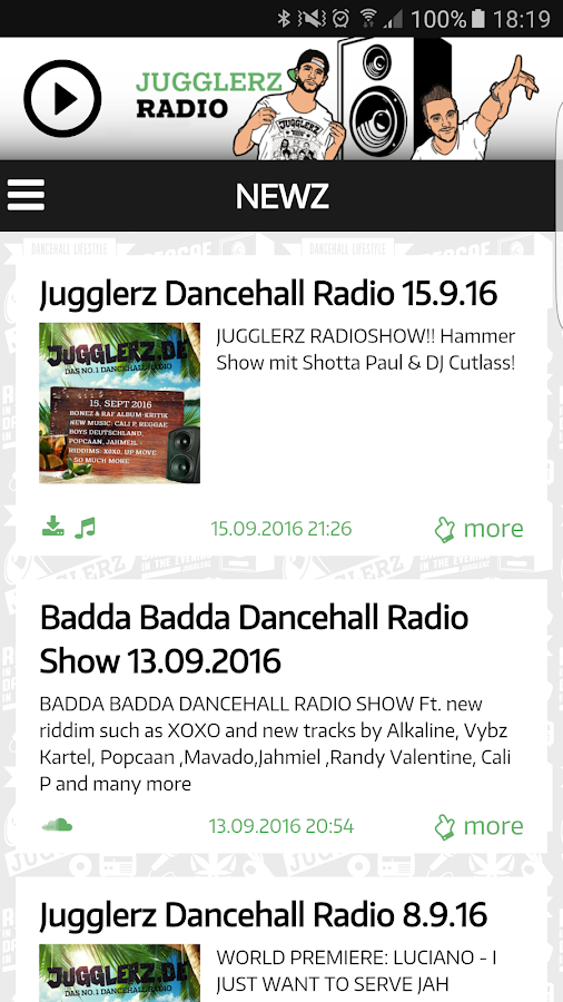Jugglerz Radio- screenshot