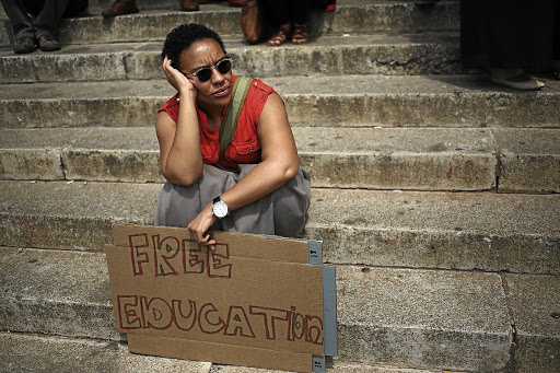 The writer says while the struggle for free higher education is important, it must also involve the socio-economic transform of the country's economy. /Alon Skuy