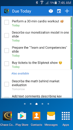 Chaos Control: Task List & GTD 1.7.1 screenshot 562440