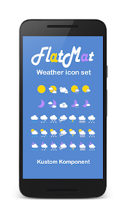 FlatMat Weather icon set for KWGT KLWP- screenshot thumbnail