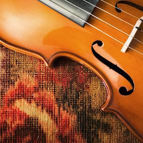 Fiddle Art by Bill Wagner - Uncategorized All Uncategorized ( music, form, cloth, violin, color, lines, instrument, shape, fiddle,  )