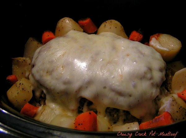 Cheesy Crock Pot Meatloaf With Veggies Recipe