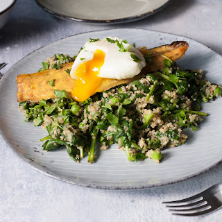 Smoked Haddock & Poached Egg With Spinach & Coconut Quinoa.