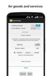 AnonCard - náhled