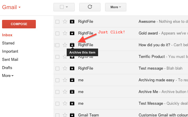 Actions for Gmail™ (beta)