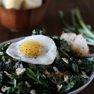 Lemony Kale Salad with Parmesan Crisps