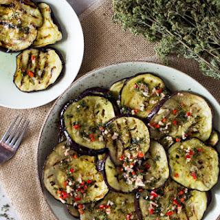 Italian Marinated Eggplant.