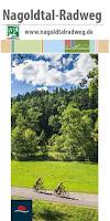 Das Titelbild des Flyers zum Radweg an der Nagold entlang durch Wiesen und Wälder