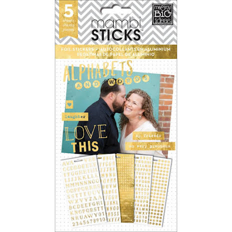 Me & My Big Ideas Pocket Pages Clear Stickers 6/Pkg Alpha Words - Hey Girl