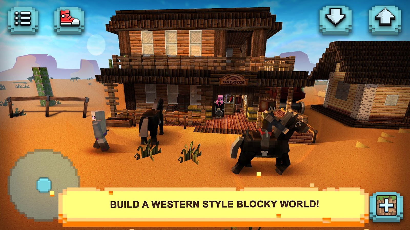 Wild west craft building cowboys indians world for Explore craft survival pe