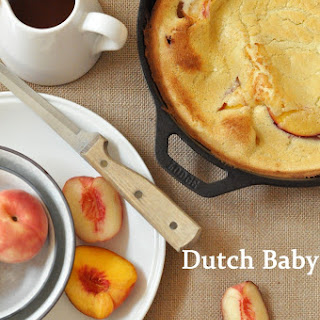 Dutch Baby with Peaches