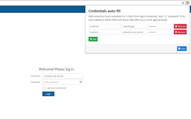 Credentials Autofill