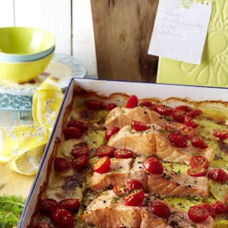 Salmon, Potato and Dill Gratin