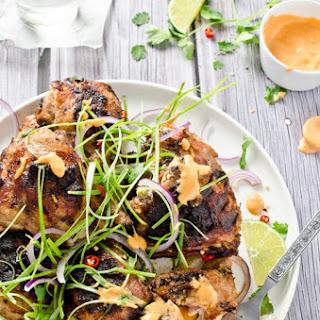 Lemongrass Grilled Chicken with Sriracha Mayo.