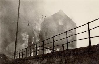 Photo: Brannen på Broene 27 mai 1936. Tatt fra vest