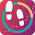Free Pedometer:  Calorie & Step Counter App icon