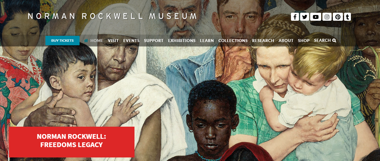 Norman Rockwell Museum homepage