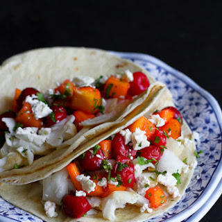 Fish Tacos with Tart Cherry & Mango Salsa