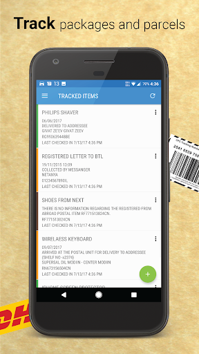 Israel Post - Package & Parcel Tracker 4.2.1.00 screenshots 1