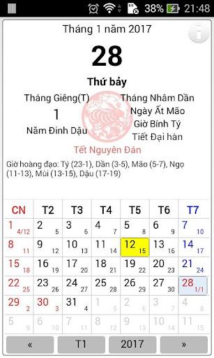 Vietnamese lunar calendar 1.7 4