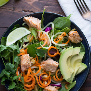 Asian Salmon Salad with Candied Ginger and Lime