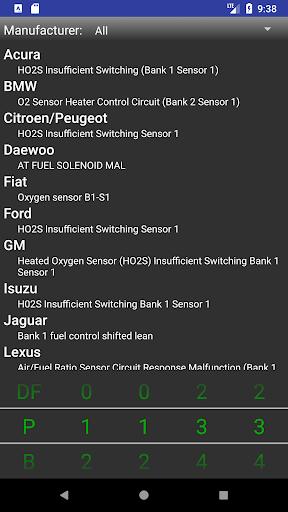 OBDII Trouble Codes Lite  screenshots 1