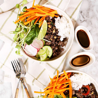 Thai Beef and fresh vegetables
